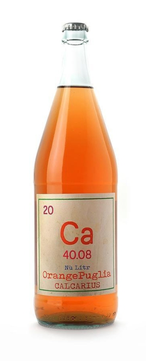 bouteille de vin orange
