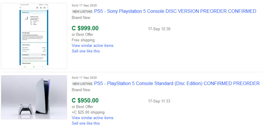 playstation 5 ebay