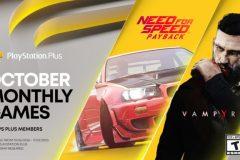 PlayStation Plus : les jeux d'octobre