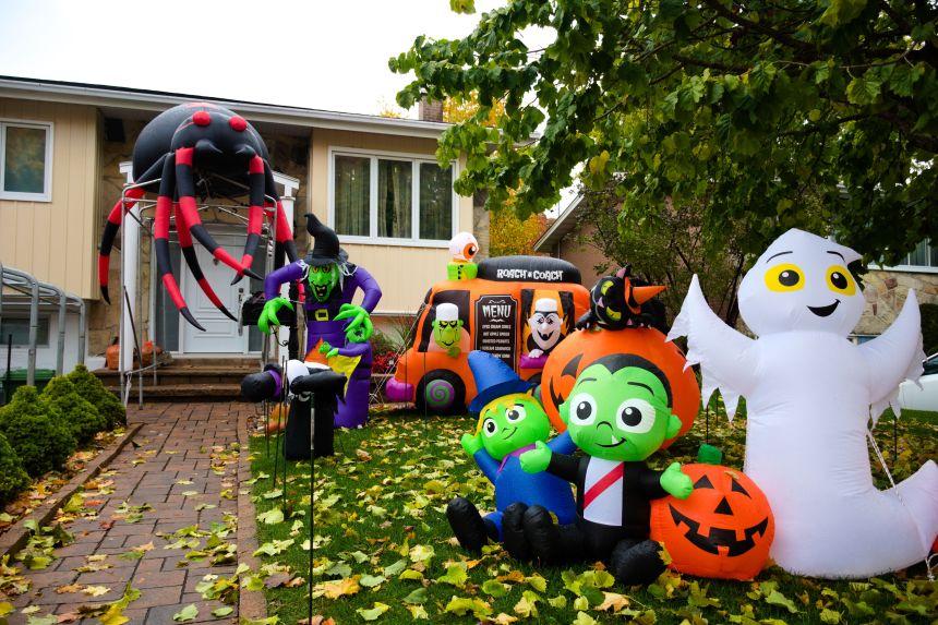 Des maisons prêtes pour l'Halloween