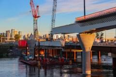 Les travaux du REM avancent sur le pont Samuel-De Champlain