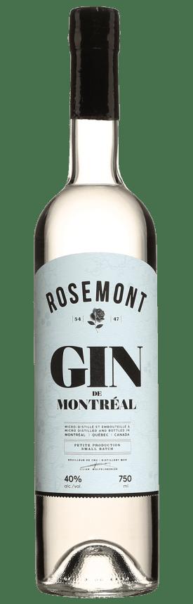 Bouteille de gin Rosemont