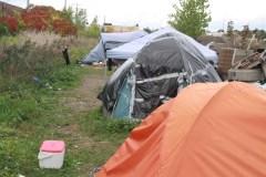 Itinérance: un campement de fortune à Montréal-Nord
