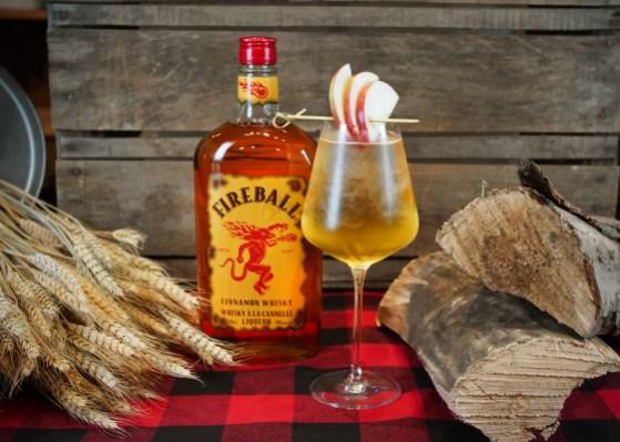 Spritz de Feu à base de Fireball Whisky à la cannelle