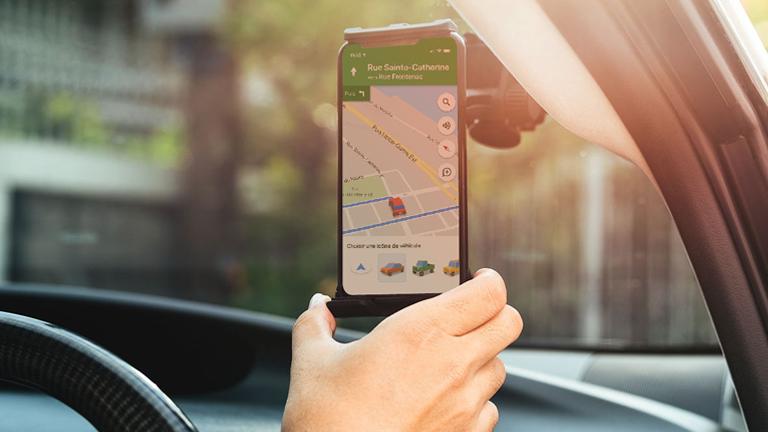 Google Maps icône véhicule itinéraire