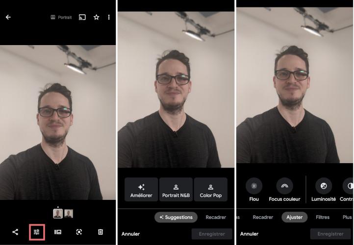 Google Photos mobile app tools enhance photos images