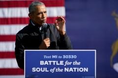 L'ancien président Barack Obama donne un coup de main à Biden au Michigan