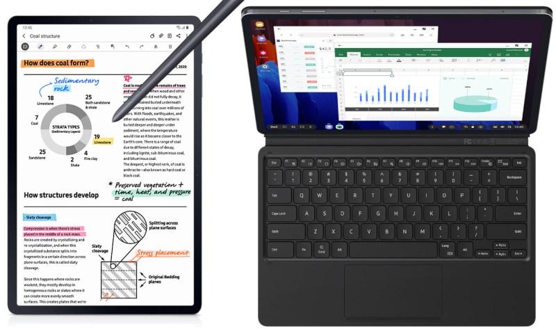 Samsung Galaxy Tab S7+ clavier S Pen DeX