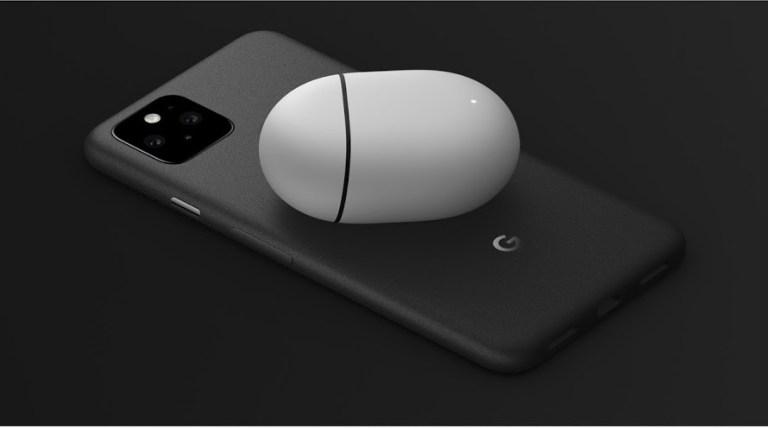 Google Pixel 5 QI charging Pixel Buds wireless headphones
