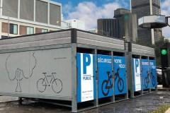 À Montréal, une entreprise teste des casiers pour vélos