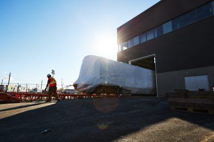 Les premières voitures du REM sont arrivées dans le Grand Montréal