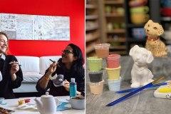 Faites une activité de peinture sur céramique dans le confort de votre maison!