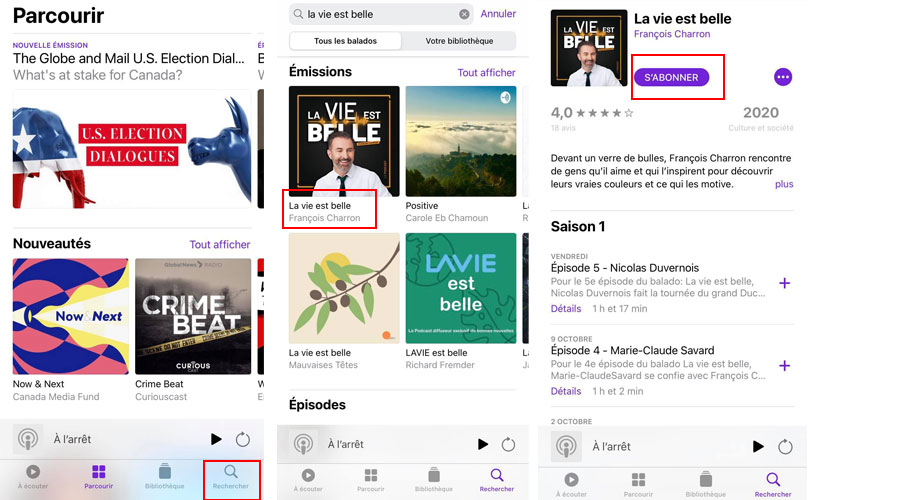comment s'abonner podcast apple podcasts