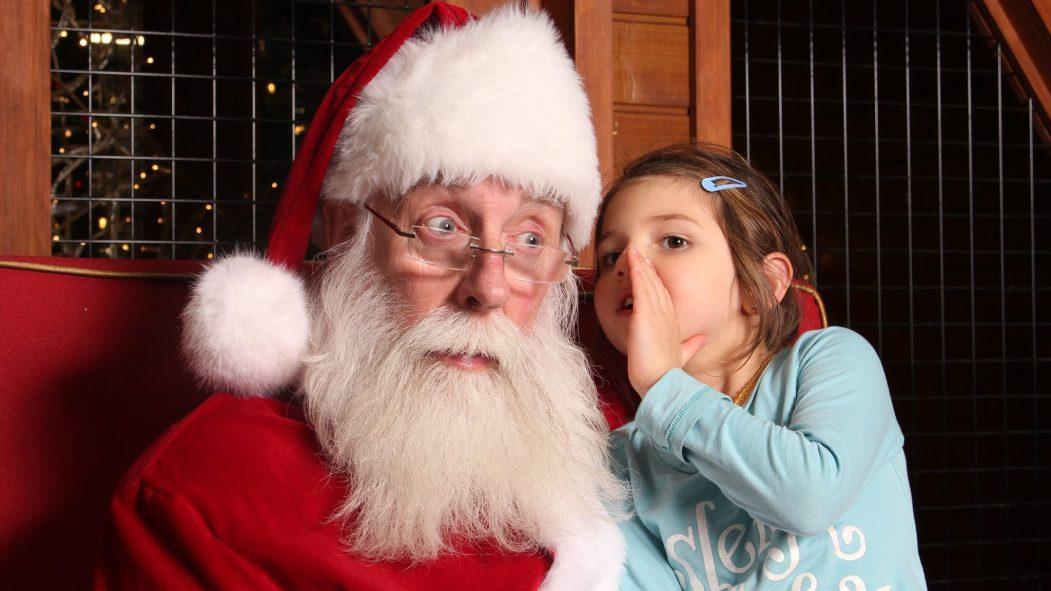 Père Noël et enfant