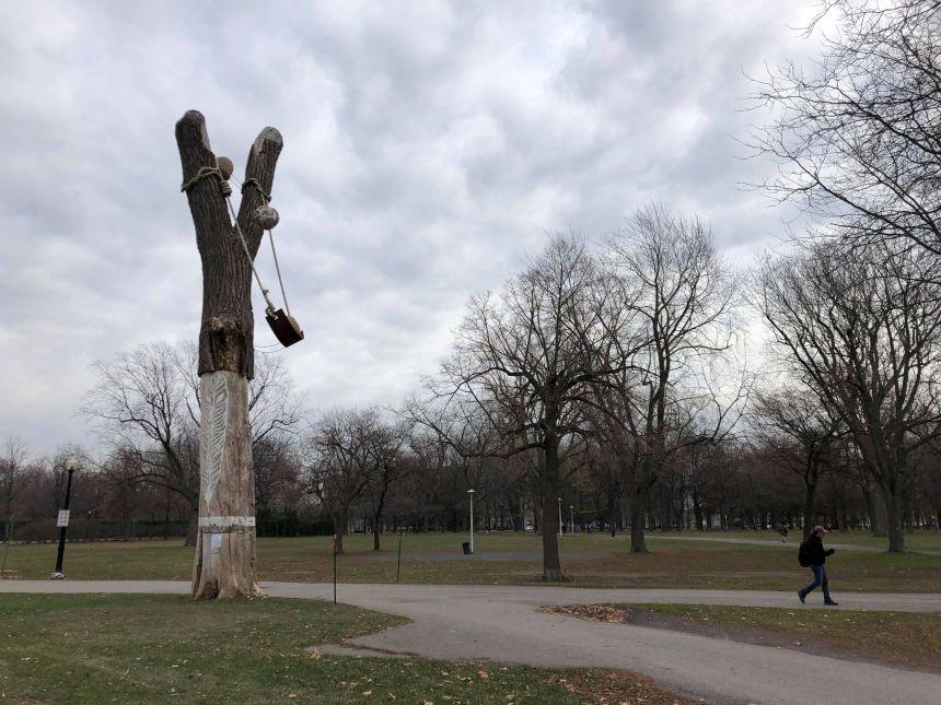 Le lance-pierre du parc Lafontaine bientôt abattu