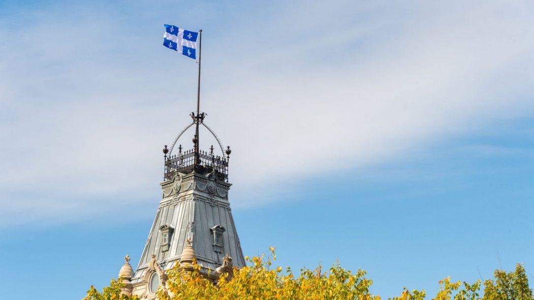 La tour centrale du parlement du Québec