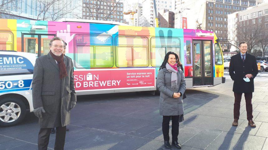 Itinérance: la STM offre un autobus à la Mission Old Brewery