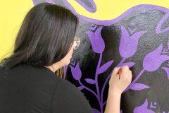 Une murale dédiée à Joyce Echaquan au Musée d'art de Joliette