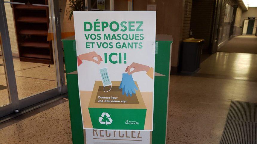 Des boîtes de récupération pour masques et gants à Saint-Laurent