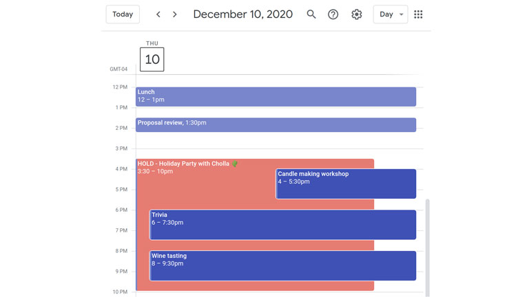calendrier party de bureau Cholla Noël