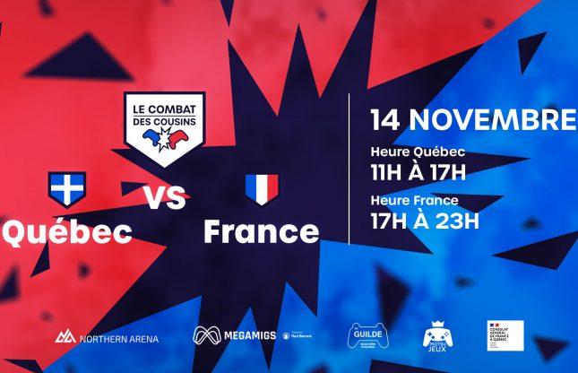 Le combat des cousins: un tournoi Esport France-Québec le 14 novembre