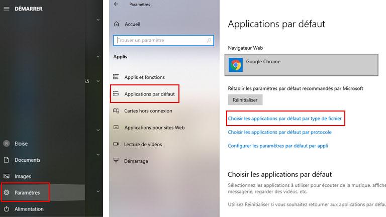 Les étapes 4 et 5 pour activer le nouveau lecteur de PDF de Chrome
