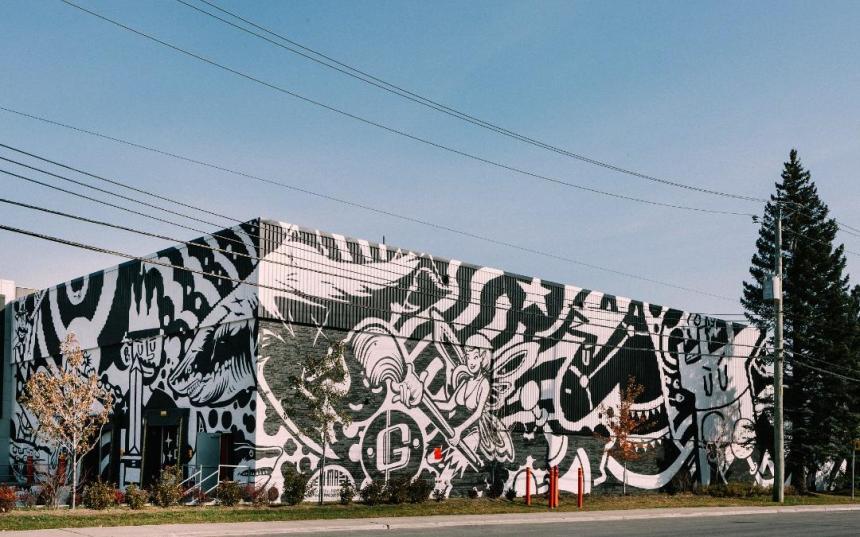 Une murale hors norme pour Gould