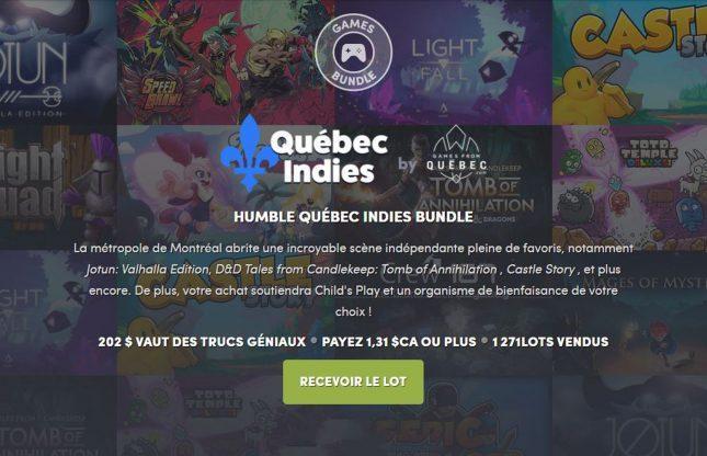 Un Humble Bundle entièrement québécois