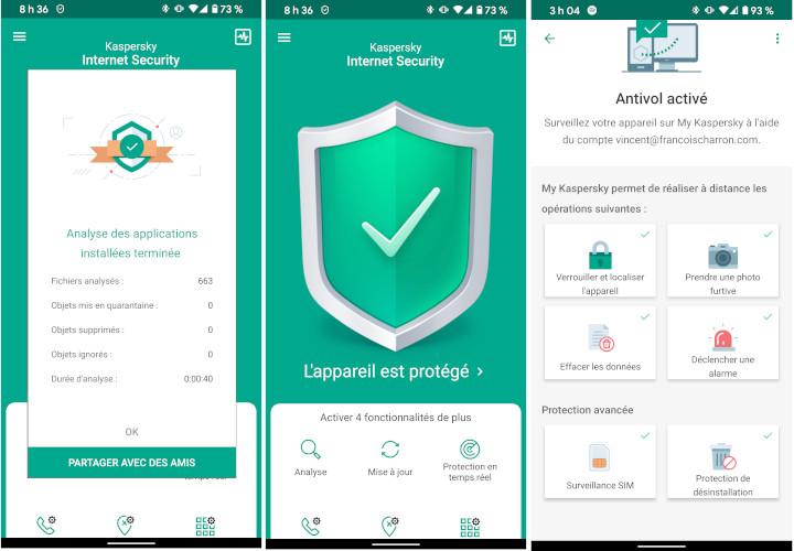 Kaspersky antivirus téléphone intelligent
