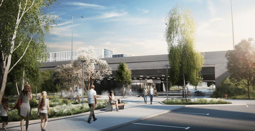 La future station Île-des-Sœurs du REM se dessine