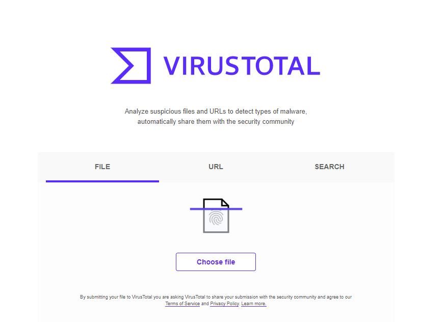 VirusTotal analyse courriels et URL virus malware