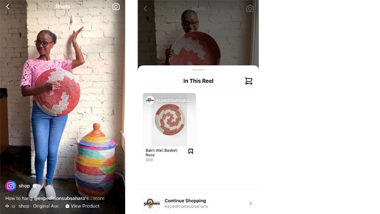 acheter produits directement dans Reels Instagram