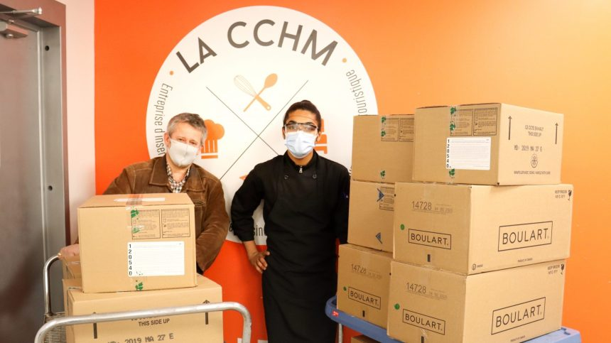 Un don de 110 palettes de nourriture pour l'Est