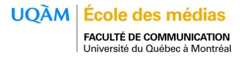 École des médias de l'UQAM nouveau logo.