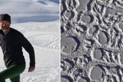 Cet incroyable artiste crée des œuvres simplement en marchant dans la neige
