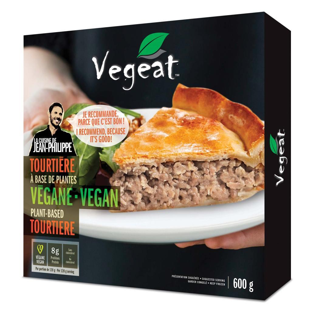Emballage d'une tourtière végétalienne