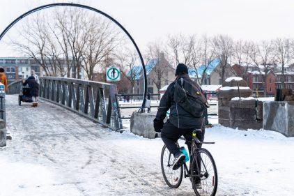 Accueil positif du déneigement de la piste du Canal-de-Lachine