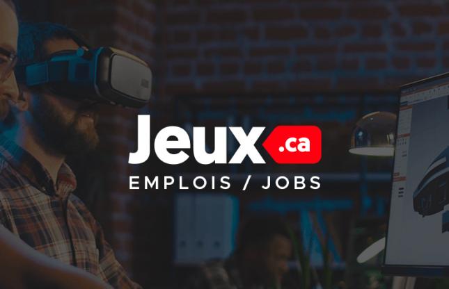Jeux.ca Jobs, la plateforme d'emplois du jeu vidéo
