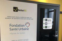 Cabines détente pour le personneldes hôpitaux de Verdun et Notre-Dame