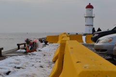 Des barrières au quai de Lachine