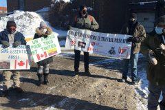 Manifestation pour la régularisation des travailleurs d'Olymel à Anjou