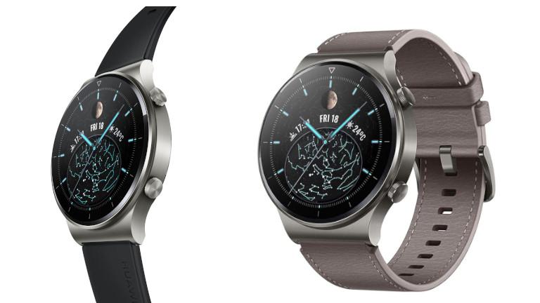 La montre intelligente Huawei Watch GT 2 Pro offre un look de luxe.