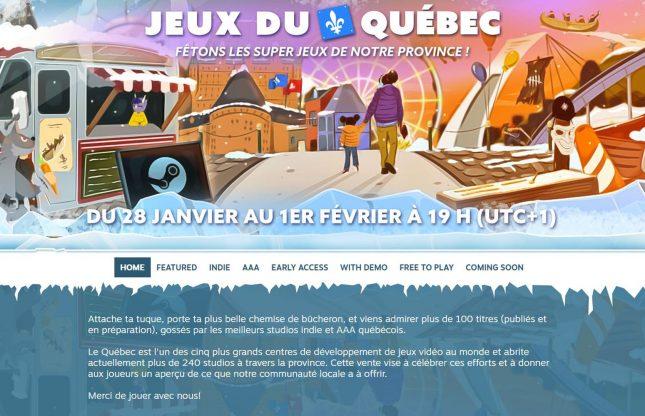 Une vente « Jeux du Québec » sur Steam