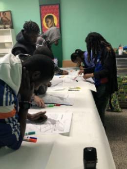 Les jeunes de Montréal-Nord travaillent sur le projet.