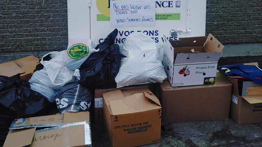 Les boîtes de dons servent de poubelles, déplorent des organismes