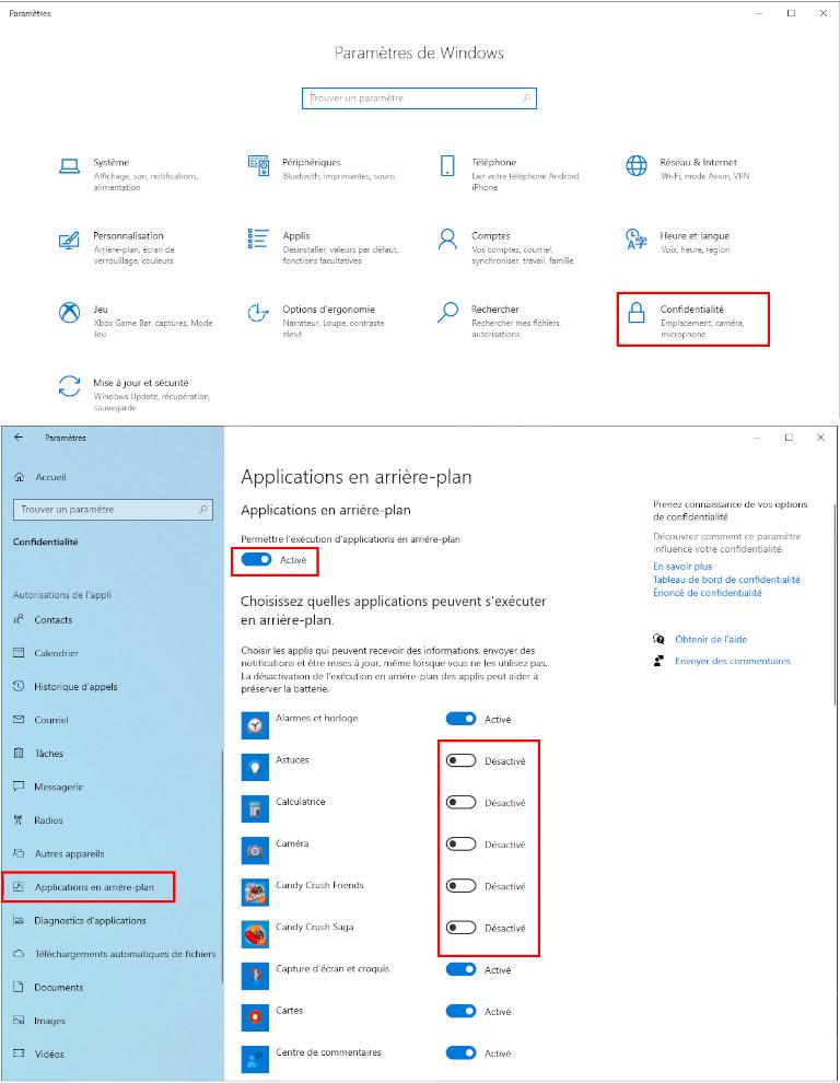 Comment désactiver les applications en arrière-plan sur Windows 10