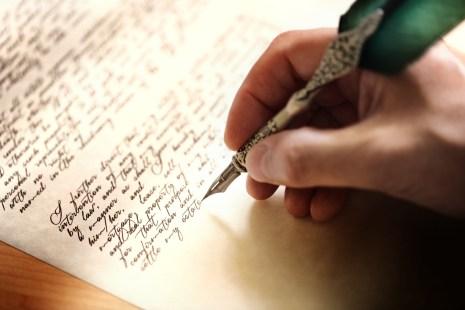 Écriture à la plume d'oie testament ou d'un concept pour le droit, les questions juridiques ou de l'auteur