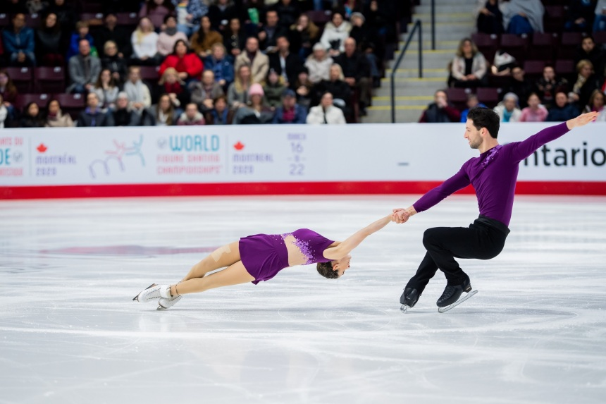 Le patineur artistique Maxime Deschamps poursuit sa préparation