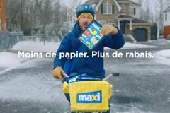 Maxi met un terme aux circulaires papier et en fait une publicité cocasse!