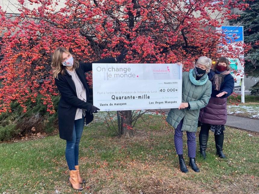 Les anges masqués récoltent 40 000$ pour l'hôpital du Suroît